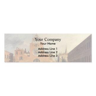 San Giacomo de Rialto by Canaletto Business Card Templates