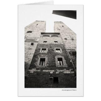 San Gimignano Towers Card