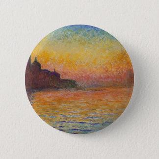 San Giorgio Maggiore at Dusk - Claude Monet 2 Inch Round Button