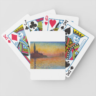 San Giorgio Maggiore at Dusk - Claude Monet Bicycle Playing Cards