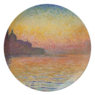 San Giorgio Maggiore at Dusk - Claude Monet Plate