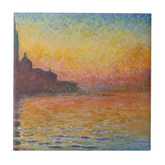 San Giorgio Maggiore at Dusk - Claude Monet Tile