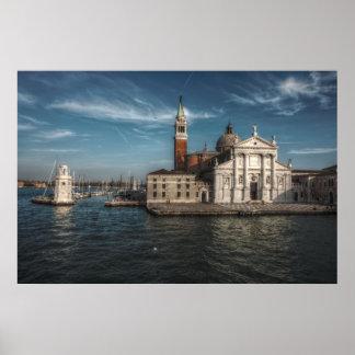 San Giorgio Maggiore Church Venice Italy Poster