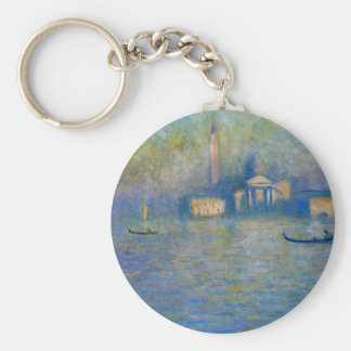 San Giorgio Maggiore, Twilight by Claude Monet Basic Round Button Keychain