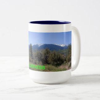 San Gorgonio Wilderness Panorama Two-Tone Coffee Mug