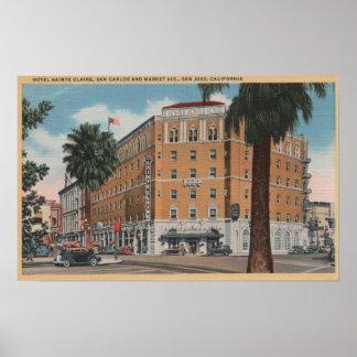 San Jose, CA - Hotel Sainte Claire Poster