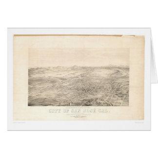 San Jose, CA. Panoramic Map 1869 (1559A) Card