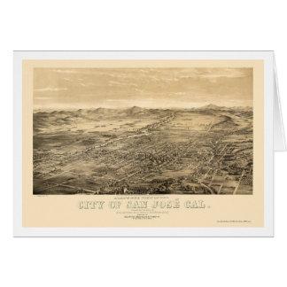 San Jose, CA Panoramic Map - 1869 Card