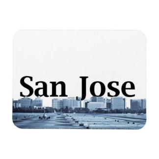 San Jose CA Skyline with San Jose in the Sky Rectangular Photo Magnet