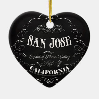 San Jose, California - Capital of Silicon Valley Ceramic Ornament