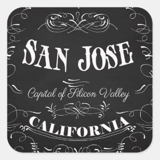 San Jose, California - Capital of Silicon Valley Square Sticker
