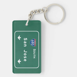 San Jose California Interstate Highway Freeway : Keychain