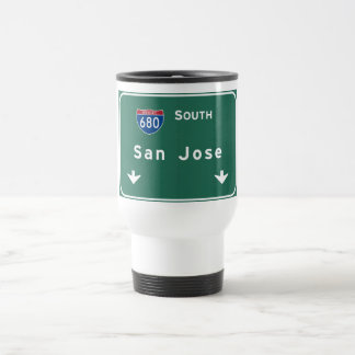 San Jose California Interstate Highway Freeway : Travel Mug