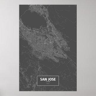 San Jose, California (white on black) Poster