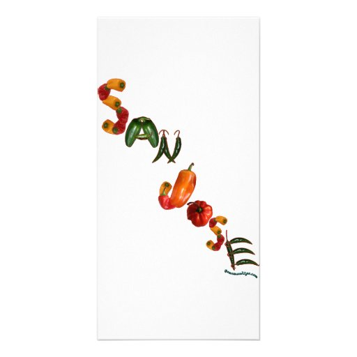 San Jose Chili Peppers Personalized Photo Card