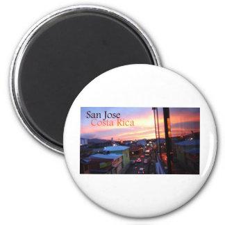 San Jose Costa Rica Sunset 2 Inch Round Magnet