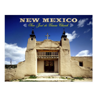 San Jose de Gracia Church, Las Trampas, NM Postcard