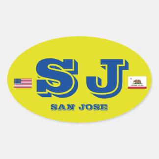 San Jose European Oval Style Sticker