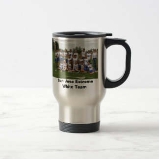 San Jose Extreme White Team Travel Mug