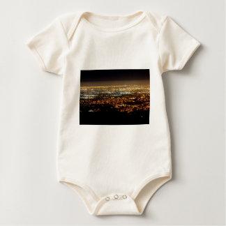 San Jose Night Skyline Baby Bodysuit