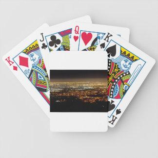 San Jose Night Skyline Bicycle Playing Cards