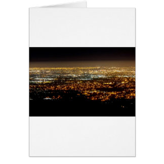 San Jose Night Skyline Card