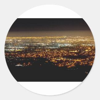 San Jose Night Skyline Classic Round Sticker