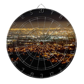 San Jose Night Skyline Dartboard