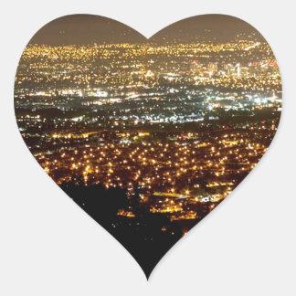 San Jose Night Skyline Heart Sticker