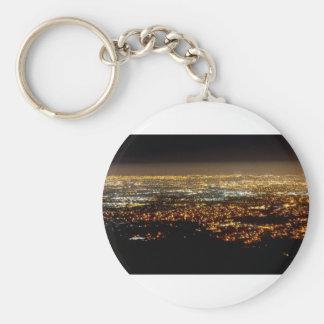 San Jose Night Skyline Keychain