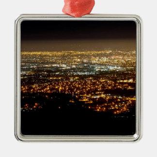San Jose Night Skyline Metal Ornament