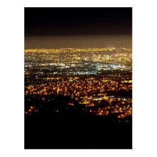 San Jose Night Skyline Postcard