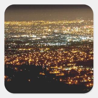 San Jose Night Skyline Square Sticker