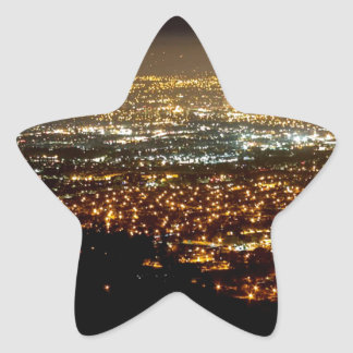 San Jose Night Skyline Star Sticker