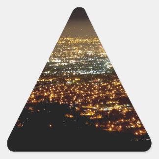 San Jose Night Skyline Triangle Sticker