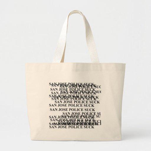 san jose police SUCK Tote Bags