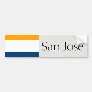 San Jose simplified city flag bumper sticker