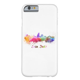 San Jose skyline in watercolor Barely There iPhone 6 Case
