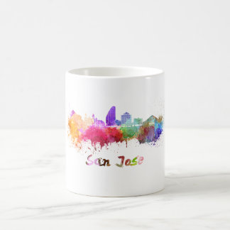 San Jose skyline in watercolor Coffee Mug