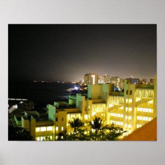 San Juan City View by RZB Poster
