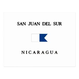 San Juan Del Sur Nicaragua Alpha Dive Flag Postcards