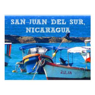 San Juan del Sur, Nicaragua Boats Postcard