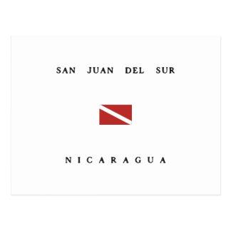 San Juan Del Sur Nicaragua Scuba Dive Flag Post Card