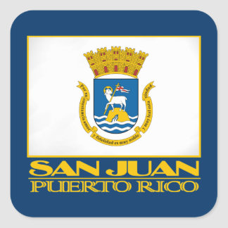 San Juan Flag Square Sticker