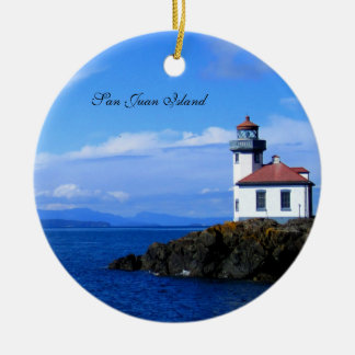 San Juan Island Ceramic Ornament