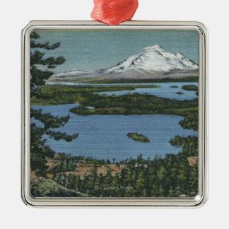 San Juan Islands, Washington 2 Silver-Colored Square Ornament