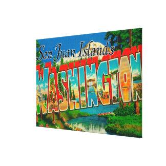 San Juan Islands, WashingtonLarge Letter Canvas Print
