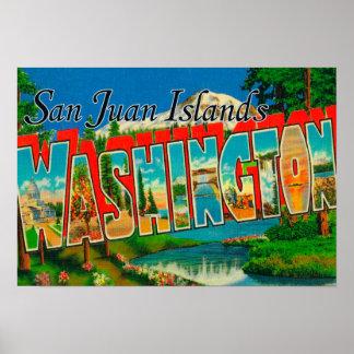San Juan Islands, WashingtonLarge Letter Poster