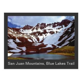 San Juan Mountains, Blue Lakes Trail Postcard