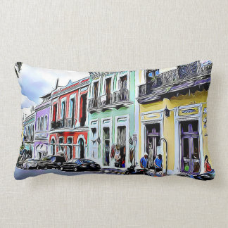 San Juan Puerto Rico Colorful Buildings Pillow